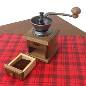 コーヒー豆 珈琲前豆 豆挽き ぬくもりのある木製タイプ コンパクトデザイン 手挽きミル 挽きたての香り コーヒータイム