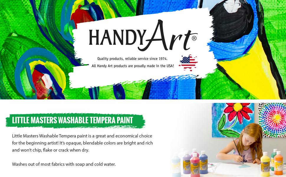 HandyArt, Handy Art, Little Masters, Washable Tempera, Beginner Artist, Arts and Crafts, Ages 3+