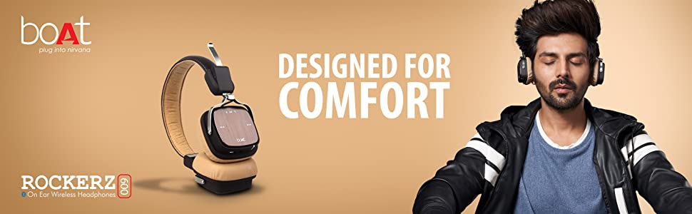 rockerz 600, banner, boAt, audio, nirvana, designed for comfort