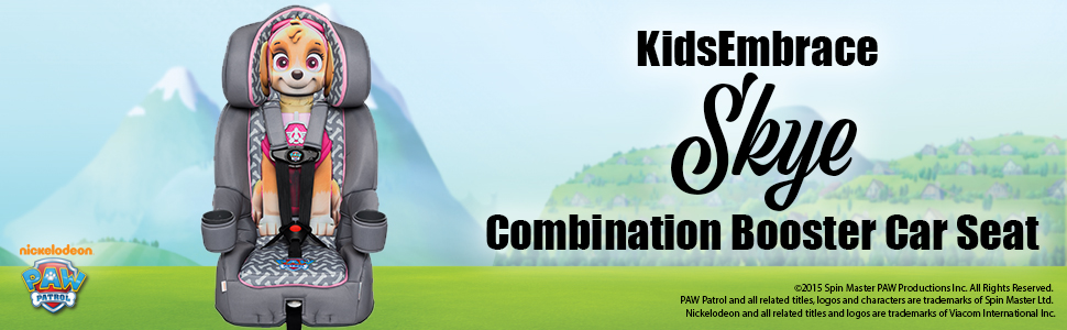KidsEmbrace 2-in-1 Harness Booster Car Seat Nickelodeon Paw Patrol Skye