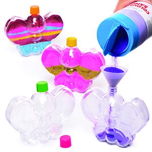 Butterfly Sand Art Bottles