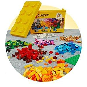 LEGO Classic - Caja de ladrillos creativos grande, Set de Construcción con ladrillos de colores, Juguete Creativo y divertido a partir de 4 años, incluye separador de piezas (10698): Amazon.es: Juguetes y juegos