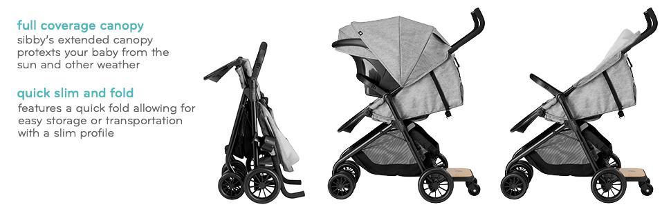 Amazon Com Evenflo Sibby Travel System Charcoal Baby
