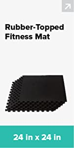 rubber top fitness mat flooring