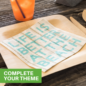 Decorate your next party with luncheon napkins that complement your theme.