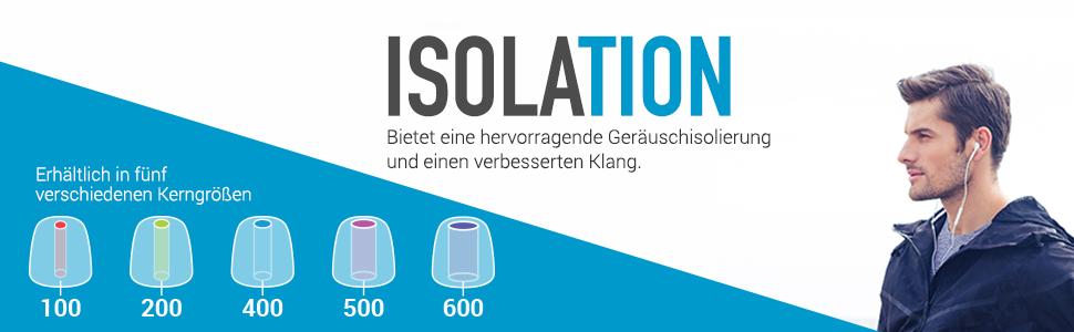 Comply T 600 Isolation 3 Ohradapter Größe S Elektronik