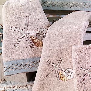 Shells Starfish Decorative Towels Beach Summer Shore Ocean Sand Bathing Suit Pool Water Shower