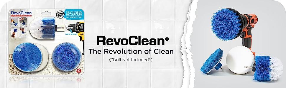 revoclean, revo clean, drill brush, drillbrush, drill attachments, grout, tile, bathroom, clean