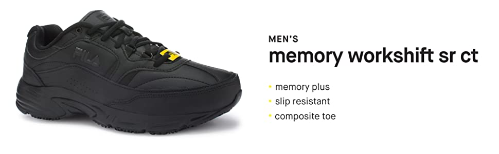 c9ba23be5951 Amazon.com  Fila Men s Memory Workshift Slip Resistant Composite Toe ...