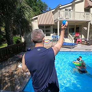 water sports toss challenge game