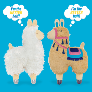 Soft landing backflips reversible character play cute kids décor 2-in-1 toy plush pillow llama