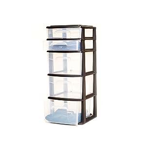 tall narrow skinny multipurpose storage plastic black white clear drawers clothing closet