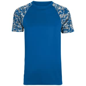 Augusta Sportswear Product Measurements Men's Color Block Digi Camo Jersey Activewear