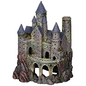 Penn plax wizard 39 s castle aquarium decoration for Harry potter fish tank