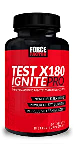 test x180 ignite pro maximize energy all day improve drive burn fat thermogenic for men boost test