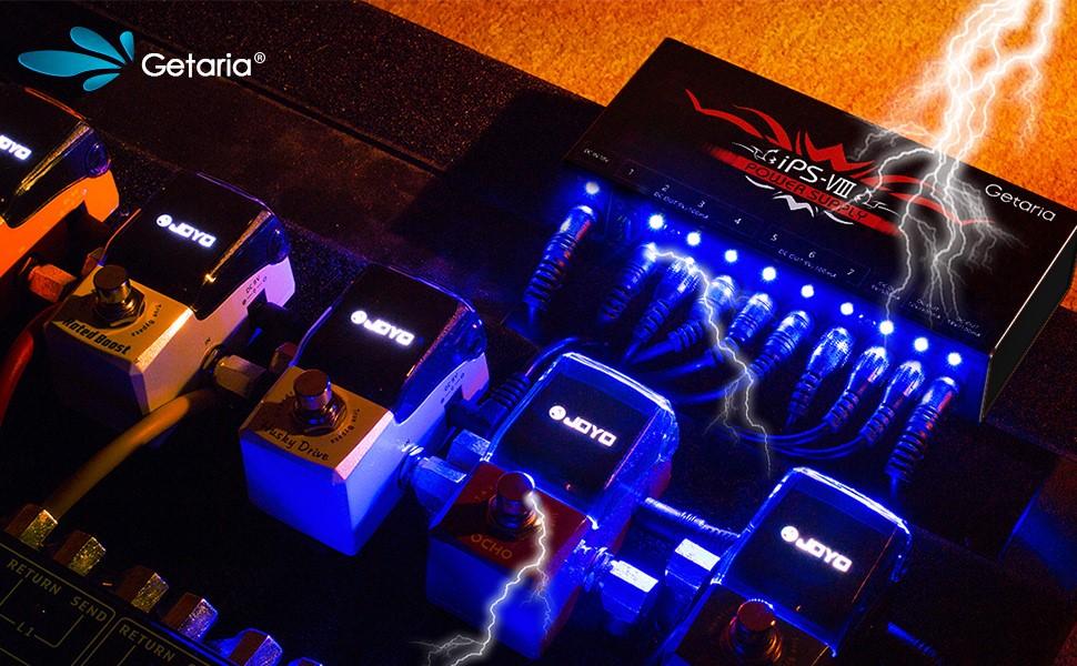 12V Getaria Fuente de alimentacin de pedal aislado de guitarra 10 ...