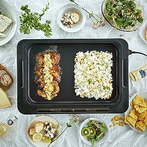 片方で調理、片方で保温