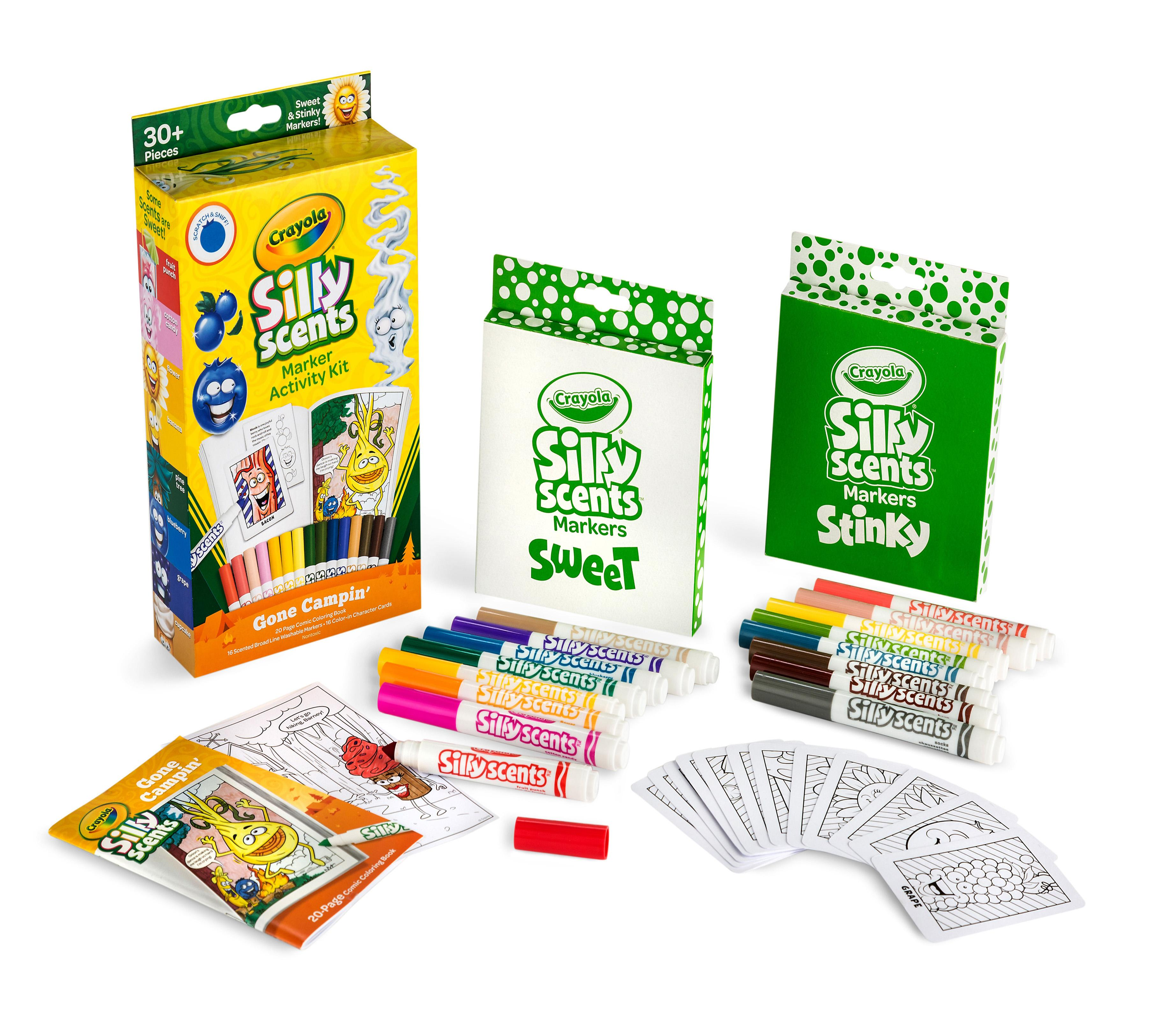 Amazon.com: Crayola Silly Scents Marker Activity, Coloring ...