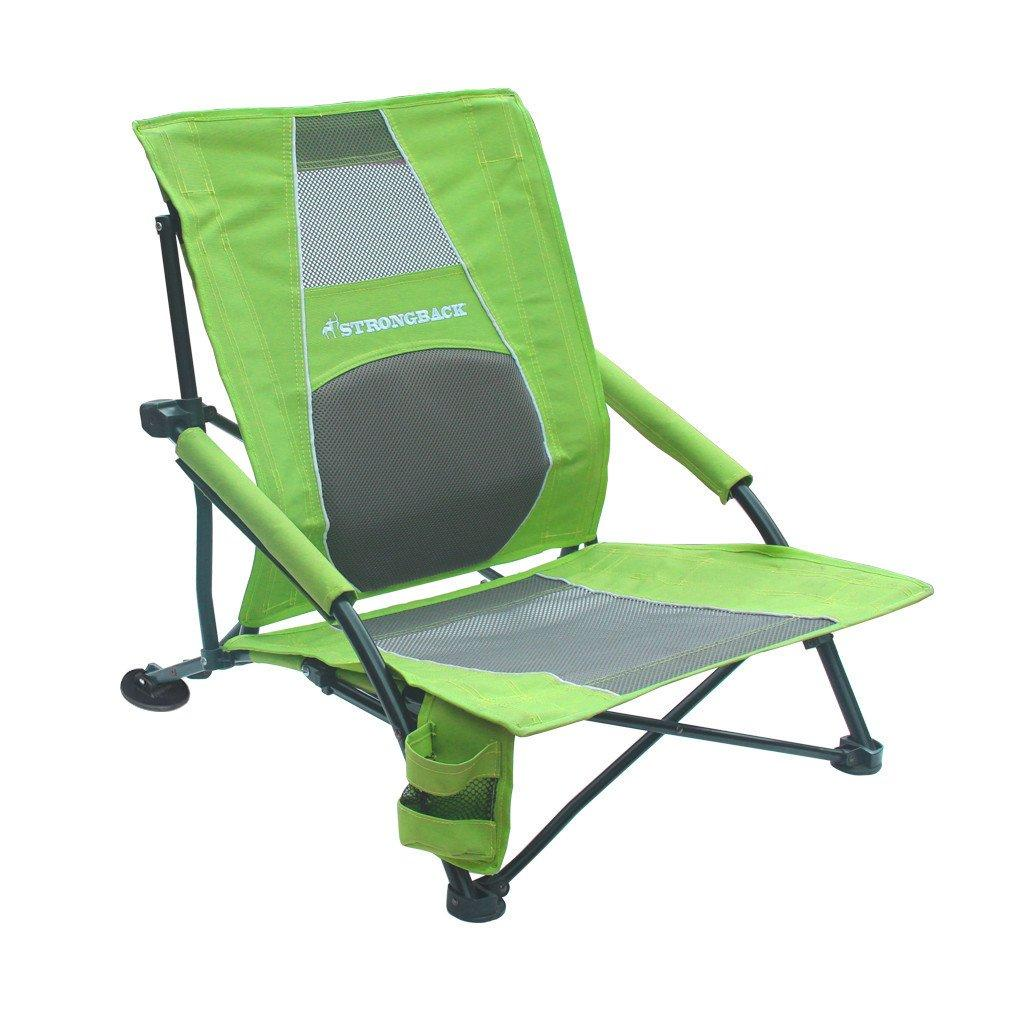 Amazon Com Strongback Low Gravity Beach Chair Heavy Duty