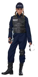 Cop, Police Officer, Girl's Costume, Occupational Costume, S.W.A.T., Prisoner, Cops and Robbers