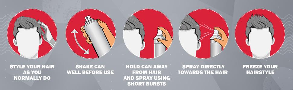 how to spray hair spray over hair