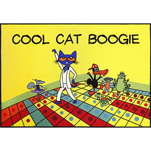 cool cat boogie, pete the cat books, children cat rugs, school rugs, back to school rug, paw patrol