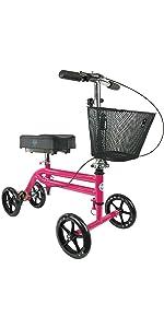 KneeRover Knee Scooter in Hot Pink