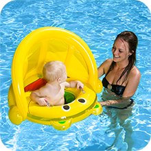 infant pool float,baby float with shade,baby swim canopy,baby learn swim,inflatable baby float
