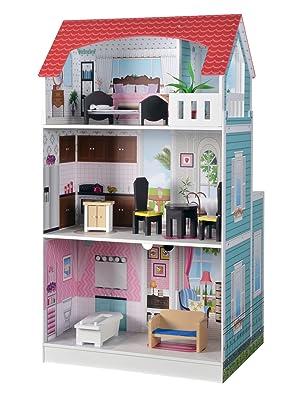 casita de muñecas, cocina de madera, Colorbaby, casa para jugar, casita de