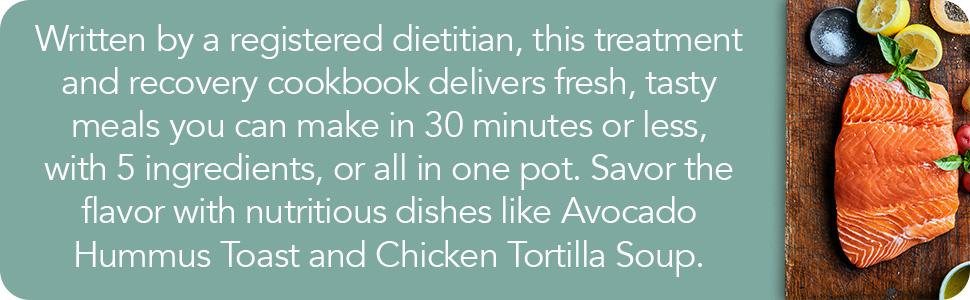 cancer diet, cancer, cancer books, cancer cookbooks, 5 ingredient cookbook