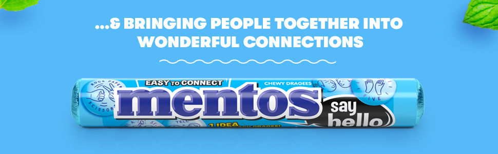 Mentos; candy; chewy; mint; fresh; vegetarian; refreshing; mints; gluten-free;