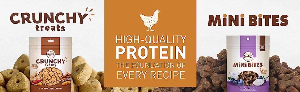 Crunchy Treats, High Quality Protein the Foundation of Every Recipe, Mini Bites, Nutro Dog Treats