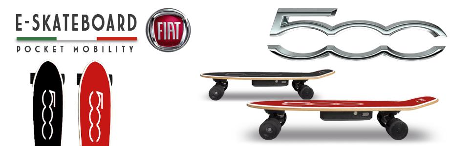 FIAT500 F500-S70K Skateboard - Monopatín Eléctrico, 10-15km ...