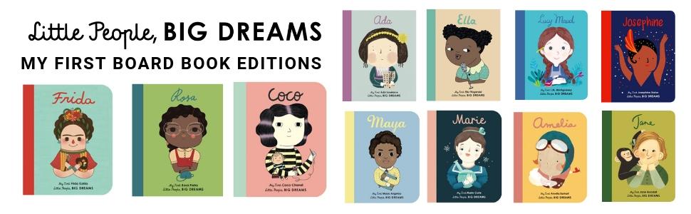 little people big dreams board book editions