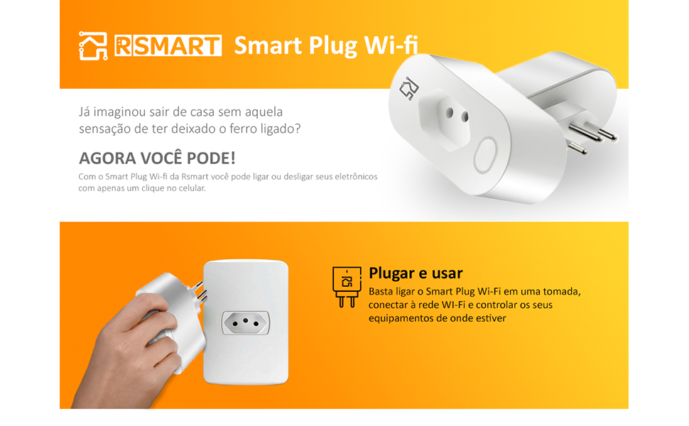 Tomada inteligente Smart Plug RSMART