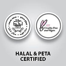 Halal and PETA certified