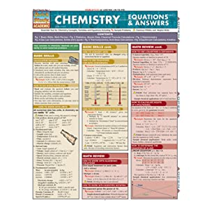 Chemistry Equations & Answers (Quickstudy Reference Guides