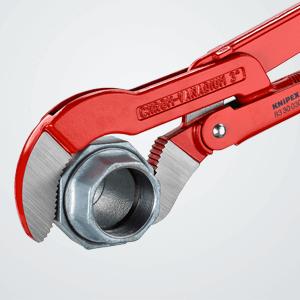 KNIPEX 83 30 030 Rohrzange S-Maul rot pulverbeschichtet