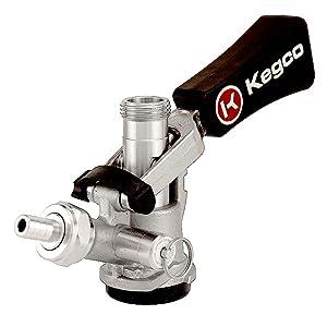 Three Kegco KTS97D-W 'D' System Ergonomic Keg Couplers