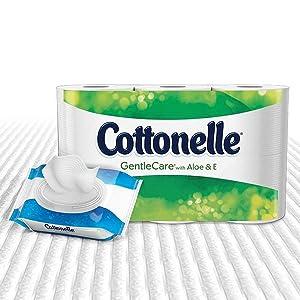 Cottonelle Gentle Care Toilet Paper Sensitive Bath Tissue