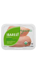 Just bare chicken boneless skinless breat fillets organic natural healthy nutrition protein poultry