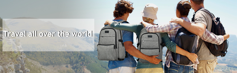 366e9e6ad54f9 Laptop Backpack, Business Waterproof Travel Slim Anti Theft Backpack ...