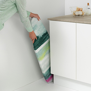 ironing board; compact; small; tabletop; table top; ironing boards brabantia; steel; sturdy