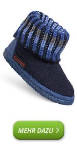 Zapatillas de casa para niños y niñas de lana de fieltro