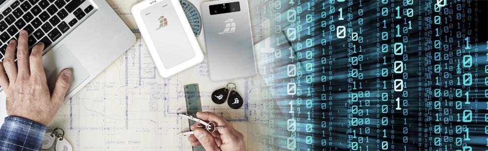Externe portable verschlüsselte Festplatten mit Hardware-Verschlüsselung Datenschutzgrundverordnun