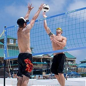 outdoor volleyball set, tournament, grass, beach, sand, womens