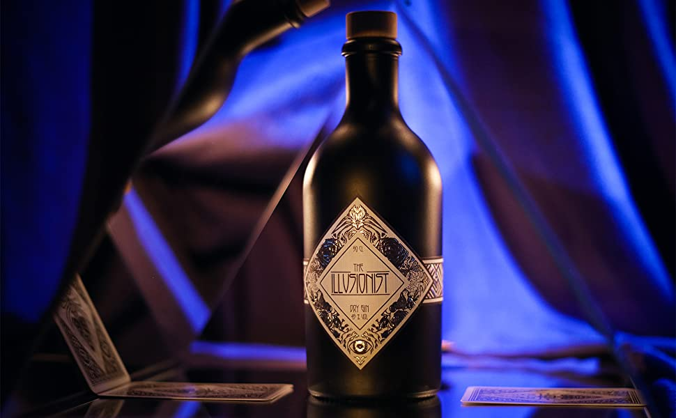 The Illusionist Dry Gin, Glasses, Blue Gin, Organic Gin,