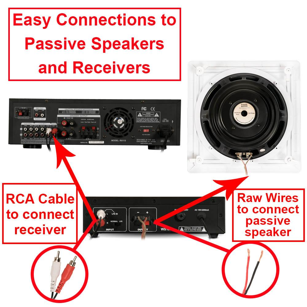 Passive subwoofer wiring passive subwoofer setup wiring diagrams amazon com acoustic audio ws1005 low frequency passive subwoofer passive subwoofer hook up connections easily connect asfbconference2016 Images