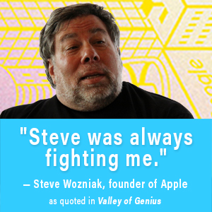 Steve Wozniak, valley of genius, steve jobs, apple