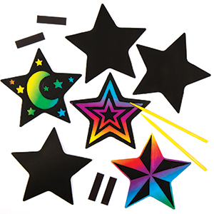 Star Scratch Art Magnets